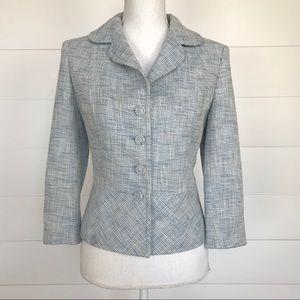 Ann Taylor   Tweed 3/4 Sleeve Blazer   Size 6